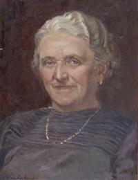 damenporträt by franz glaubacker