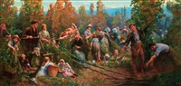 the hop pickers by george harcourt sephton