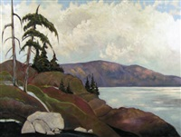 view from nanoose, vancouver island by william (h.w.) townsend