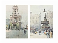 st. mary-le-strand, london (+ eros, piccadilly circus; 2 works) by j. tim macdonald