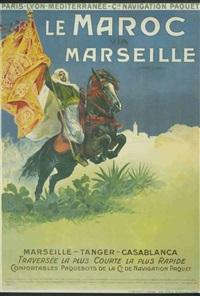 le maroc via marseille by ernest-louis lessieux