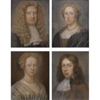portrait (+ 3 others; 4 works) by bernard vaillant