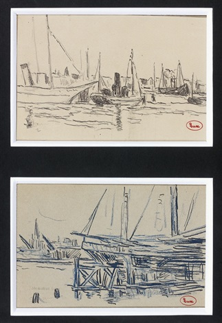 marine (2 works) by maximilien luce
