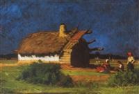 ház kék ég alatt (house under blue sky) by andrás mikola