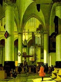 inneres einer gotischen kirche by hendrick van streeck