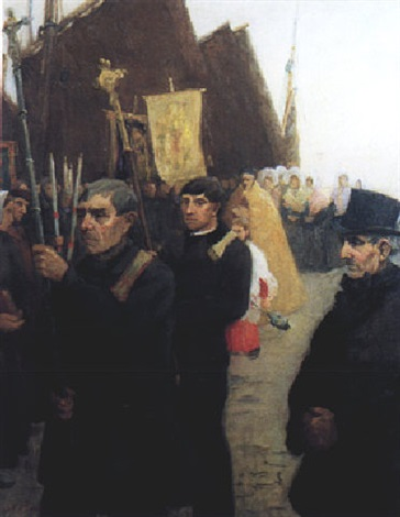 the blessing of the fishing fleet etaples brittany by freda moloney