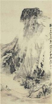 scholar in a landscape by zhang daqian