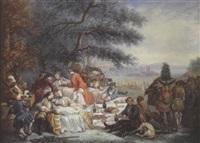 le repos des cavaliers by alexandre paul joseph veron