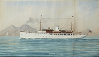 the american steam yacht sumar of the new york yacht club by luca papaluca