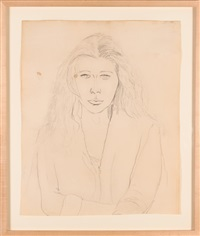portrait of the artist's wife, claudine hermann meschers by ellsworth kelly