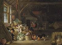 a kitchen interior by dirck wyntrack