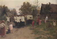 evening concert at the village by nikolai karlovich grandkovsky