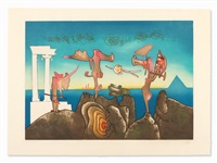 l'arc obscure des heures-5 a.m. (from l'arc obscure the heures) by roberto matta