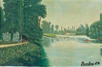 promenade en bord de lac by camille bombois
