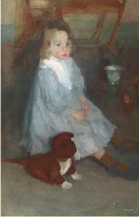 l'enfant au chien - le petit frère maurice by hippolyte daeye