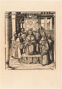3 bll. aus der folge: weisskunig (3 works, 1 lrgr) by leonhard beck