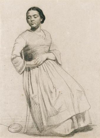 portrait présumé de virginie binet by gustave courbet