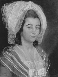 portrait de femme au bonnet en dentelle by antoine raspal