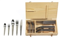 cutlery set (model 2060) (set of 30) by carl auböck