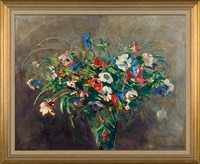 bouquet of flowers by czeslaw zawadzinski