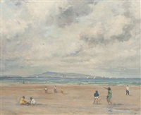beach scene, sandymount strand by david hone