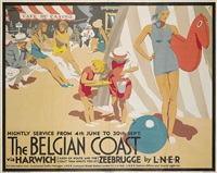 the belgian coast by frank newbould