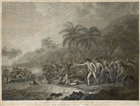 the death of captain cook (after john webber) by william byrne and francesco bartolozzi