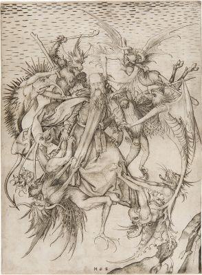 der heilige antonius von dämonen gepeinigt by martin schongauer