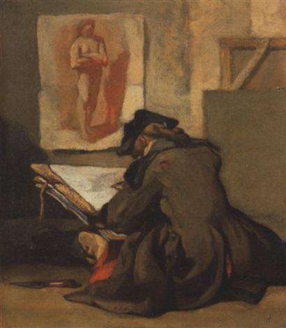 un jeune écolier qui dessine ou le jeune dessinateur by jean baptiste siméon chardin