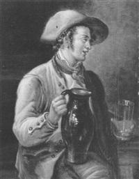 portret van man met kruik by pieter barbiers bartholomeusz