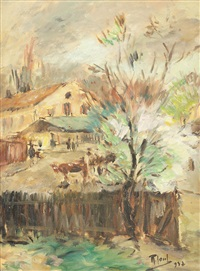 courtyard in câmpina by iosif rosenbluth