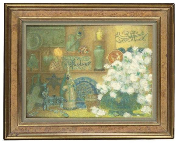 nature morte aux céramiques islamiques by lucien lévy dhurmer