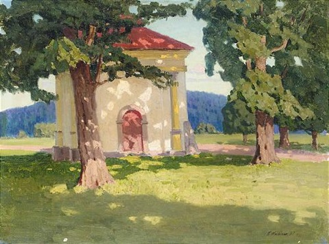 chapel in summer by konstantin haritonov wroblewsky