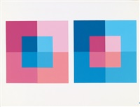 interaction of color (portfolio with complete text folder, bound text volume and 80) by josef albers