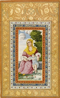 a portrait of a mother and child by anonymous-persian (19)