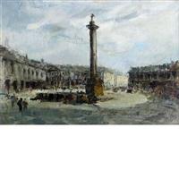column of marcus aurelius, rome by mario agostinelli