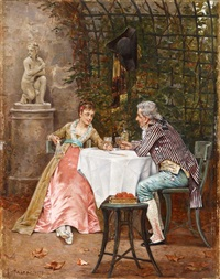 courting scene by charles louis kratke