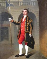 portrait of a city halberdier, edinburgh by john myles