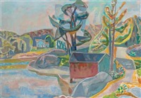 landskap justoy (saxlunds sjohus) by aage storstein