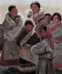 阳光下的灿烂 (tibetan children) by xu weixin