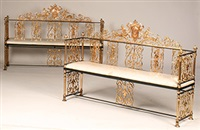 benches (pair) by oscar bruno bach