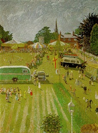 st. lawrence's fair, hurstpierpoint by norman clark
