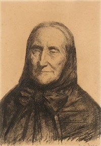 portrait of the artist's mother anne brondum by anna kirstine ancher