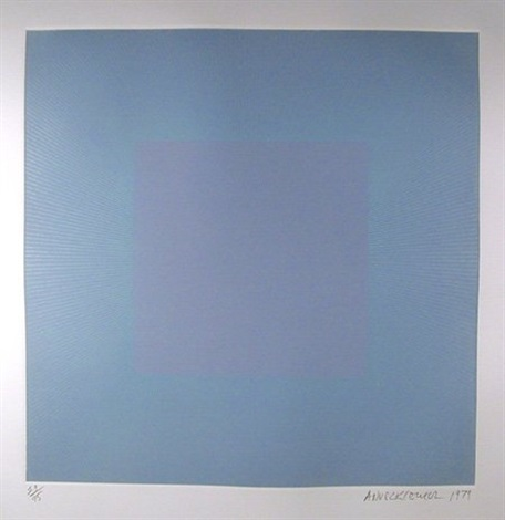 winter suite light blue with silver by richard anuszkiewicz