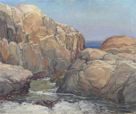 the rocky coast by edward willis redfield