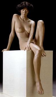 seated brunette by john deandrea