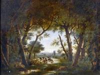 la sortie de la forêt by jules (joseph augustin) laurens