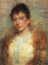 portrait of the artist eva bonnier by elisabeth warling