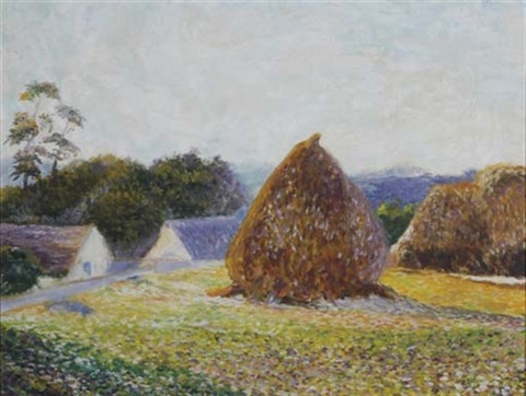 haystacks giverny by lilla cabot perry