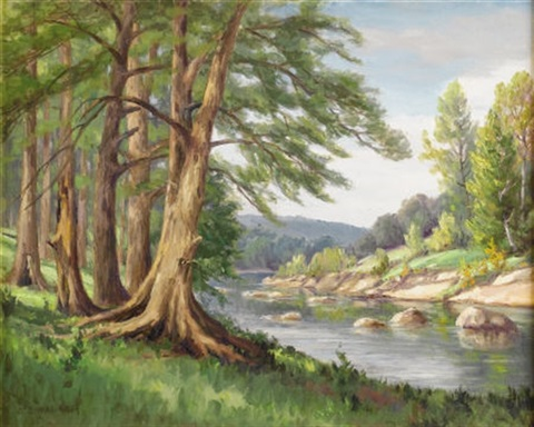 guadalupe river near fredericksburg texas by dollie nabinger